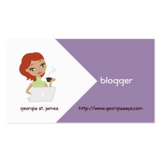 Tarjetas de visita del Blogger