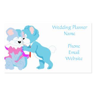 Tarjetas de visita del boda de los pares del oso d