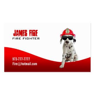 Tarjetas de visita del bombero
