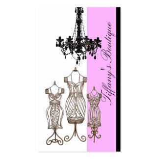 Tarjetas de visita del boutique de la lámpara del