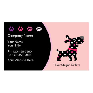 Tarjetas de visita del boutique del mascota