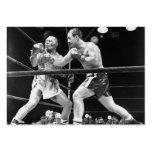 Tarjetas de visita del boxeo del vintage