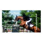 Tarjetas de visita del caballo de Grand Prix