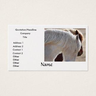 Tarjetas de visita del caballo de proyecto