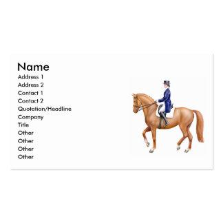 Tarjetas de visita del caballo del Dressage