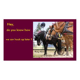 Tarjetas de visita del caballo enganchadas-para a