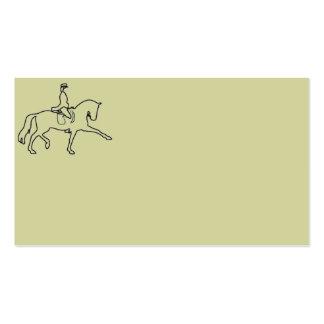 Tarjetas de visita del caballo y del jinete del Dr