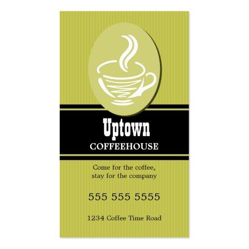 Tarjetas de visita del café/del café