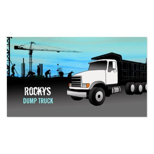 Tarjetas de visita del camión volquete