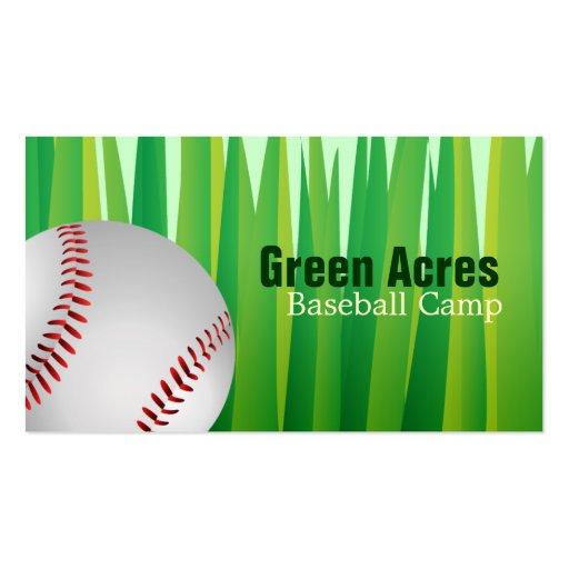 Tarjetas de visita del campo del béisbol
