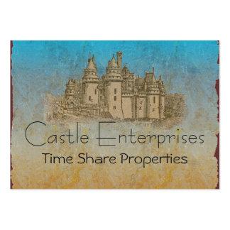 Tarjetas de visita del castillo del cuento de hada