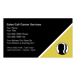 Tarjetas de visita del centro de atención telefóni