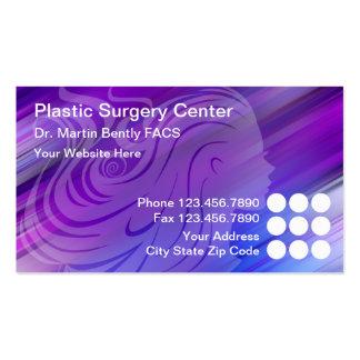 Tarjetas de visita del cirujano plástico