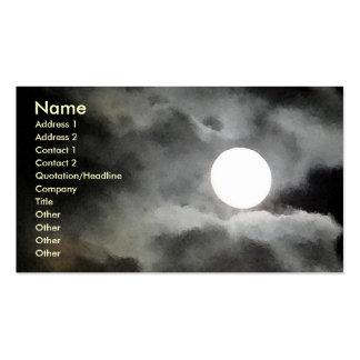 Tarjetas de visita del claro de luna del HACHA