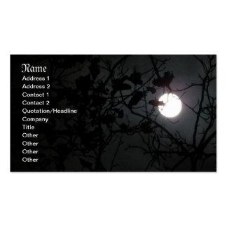 Tarjetas de visita del claro de luna