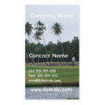 Tarjetas de visita del club de campo del golf
