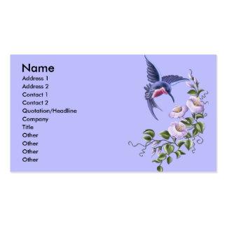 Tarjetas de visita del colibrí 2