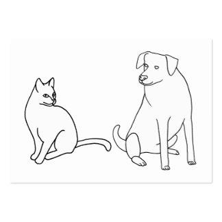 Tarjetas de visita del colorante del gato y del