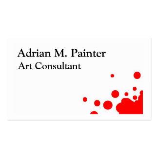 Tarjetas de visita del consultor del arte