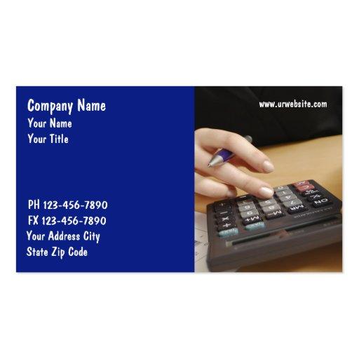 Tarjetas de visita del contable