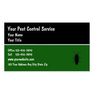 Tarjetas de visita del control de parásito