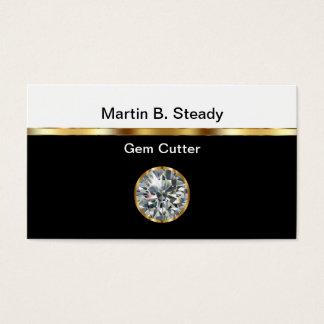 Tarjetas de visita del cortador de gema
