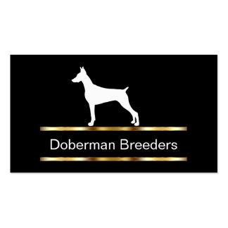 Tarjetas de visita del criador de Dobrman