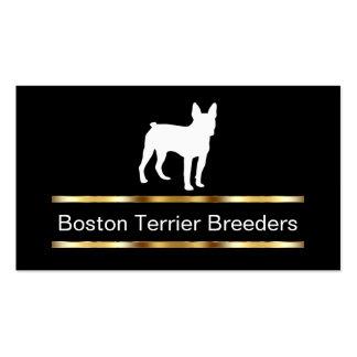 Tarjetas de visita del criador de perros de Boston