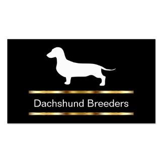 Tarjetas de visita del criador del Dachshund