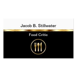 Tarjetas de visita del crítico de la comida