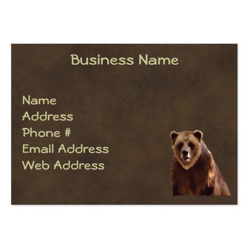 Tarjetas de visita del Cuero-efecto del oso grizzl