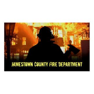 Tarjetas de visita del cuerpo de bomberos