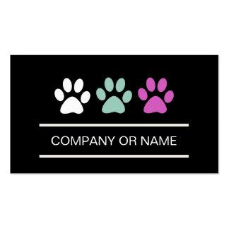 Tarjetas de visita del cuidado de animales de