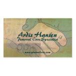 Tarjetas de visita del cuidador de las manos amiga