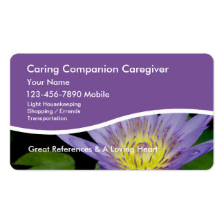 Tarjetas de visita del cuidador