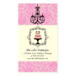 Tarjetas de visita del damasco del rosa de la supo