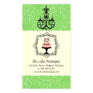 Tarjetas de visita del damasco del verde de la sup