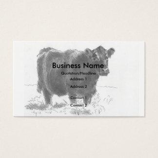 Tarjetas de visita del dibujo de la vaca