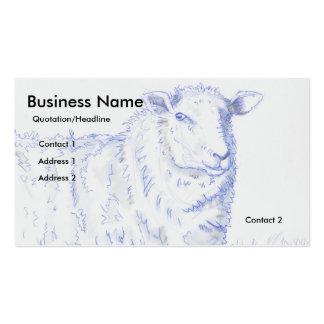 Tarjetas de visita del dibujo de las ovejas