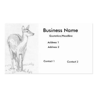 Tarjetas de visita del dibujo de los ciervos