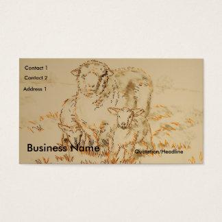 Tarjetas de visita del dibujo del cordero de las