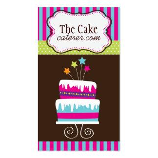 Tarjetas de visita del diseñador de la torta