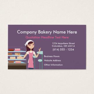 Tarjetas de visita del diseño 2 de la panadería/de