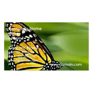 Tarjetas de visita del diseño de la mariposa de mo