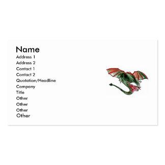 Tarjetas de visita del diseño del dragón
