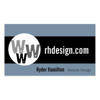 Tarjetas de visita del diseño web