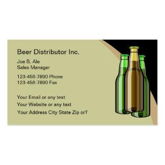 Tarjetas de visita del distribuidor de la cerveza