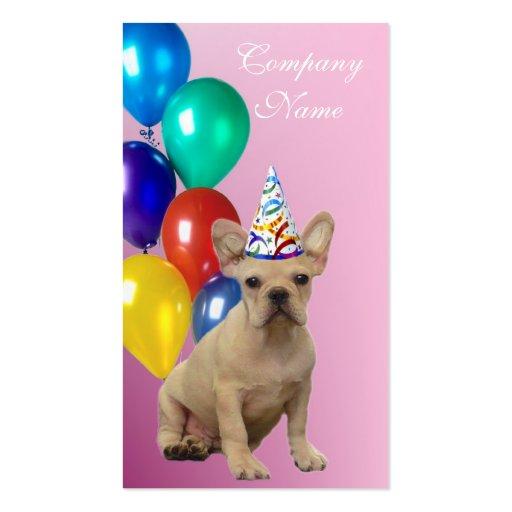 Tarjetas de visita del dogo francés del cumpleaños