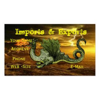 Tarjetas de visita del dragón completamente adapta