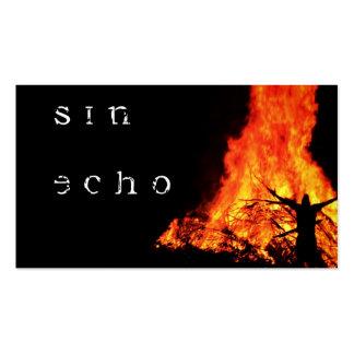 Tarjetas de visita del eco del pecado